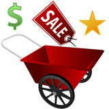 Retail Wheel Barrow Royalty Free Stock Photo