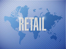 Retail world map sign concept illustration Royalty Free Stock Photos