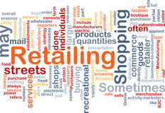 Retailing word cloud Royalty Free Stock Photo