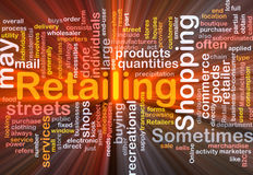 Retailing word cloud box package. Software package box Word cloud concept illustration of retailing retail Stock Image