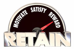 Retain Customers Employees Retention Speedometer Royalty Free Stock Images