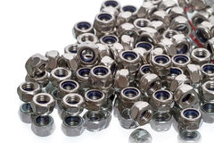 Retaining bracket nuts Stock Photos