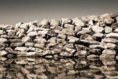 Retaining breakwater wall Stock Image