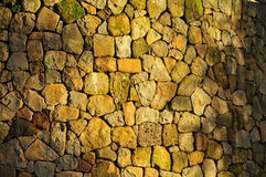 Retaining Rock Wall. Handcrafted Stone Retaining Wall in Sonoma Valley, California Stock Images
