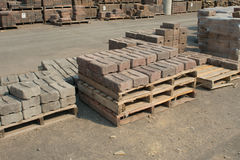 Retaining Wall Bricks Stock Photo