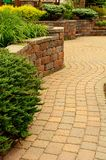 Retaining Wall and Patio Royalty Free Stock Images