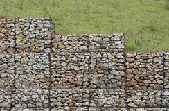 Retaining wall. SANTANA DE PARNAIBA, SP, BRAZIL - MARCH 25, 2016 - Retaining wall, structure to contain the soil slope royalty free stock images
