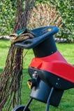 Retalhadora elétrica do jardim Foto de Stock Royalty Free