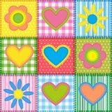 Retalhos com corações Imagem de Stock