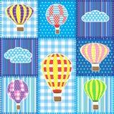 Retalhos com os balões de ar quente Fotografia de Stock Royalty Free