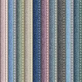 Retalhos da tela da sarja de Nimes ilustração do vetor