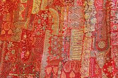 Retalhos do índio Quadrados coloridos bordado da Índia MU brilhante Imagem de Stock Royalty Free