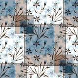 Retalhos florais sem emenda nas cores pastel ilustração stock