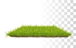 Retangle Carpet Of Grass. Vector Photo Realistic Retangle Carpet Of Green Fresh Grass. Perspetive View Royalty Free Stock Photos