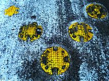 Retarder crosswalk. Retarder or zebra crossing in winter Royalty Free Stock Photos
