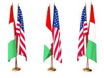 Retards de l'Italie et de l'état uni illustration de vecteur