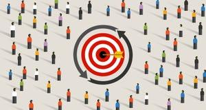Free Retargeting Remarketing Crowd Online Advertising Strategy Of Targeting Visitor. Symbol Of Dart Target Customer Stock Photo - 174370540