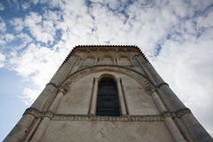 Retaud church abse. Abse view of the romanesque Retaud church,Charente, France Royalty Free Stock Photo