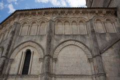 Retaud church. Detail Abse of the romanesque Retaud church,Charente, France Royalty Free Stock Photography