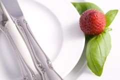 Retaurant Table Place Setting Royalty Free Stock Image