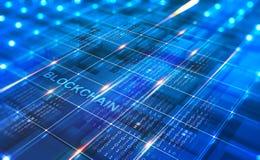 Rete astratta di Blockchain di concetto Tecnologia di Fintech royalty illustrazione gratis