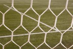 Rete bianca di gioco del calcio fotografia stock