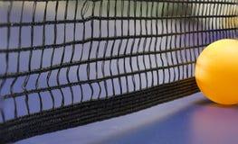 Rete blu della tavola di ping-pong Fotografie Stock
