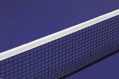 Rete blu della tavola di ping-pong Fotografia Stock Libera da Diritti