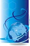 Rete cellulare globale di vettore Fotografie Stock