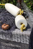 Rete da pesca con i galleggianti Fotografie Stock Libere da Diritti