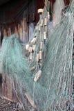 Rete da pesca con i galleggianti Fotografia Stock
