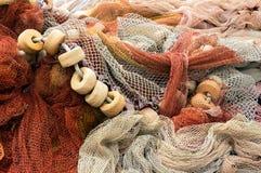 Rete da pesca con i sugheri Immagini Stock Libere da Diritti