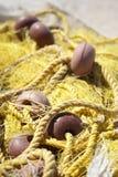 Rete da pesca gialla Fotografia Stock Libera da Diritti