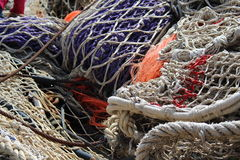 Rete da pesca in porto Fotografia Stock