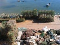 Rete da pesca - porto di Cais Cais Fotografia Stock Libera da Diritti