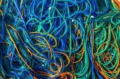 Rete da pesca variopinta Fotografie Stock Libere da Diritti