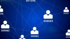 Rete - dati personali - identificazione - grandi dati illustrazione vettoriale