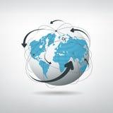 Rete dei collegamenti del globo illustrazione di stock