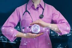 Rete dei servizi sanitari universalmente fotografie stock libere da diritti