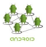 Rete del Android Fotografia Stock Libera da Diritti