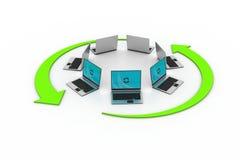 Rete del computer portatile Illustrazione Vettoriale