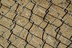 Rete del ferro con ombra Fotografie Stock