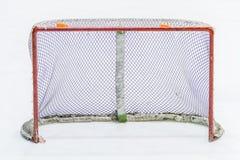 Rete del hockey su ghiaccio fotografia stock libera da diritti