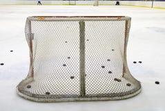 Rete del hockey su ghiaccio Fotografie Stock