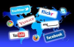 Rete del Social del mondo Immagine Stock Libera da Diritti