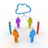 Rete del social della nube Fotografie Stock Libere da Diritti