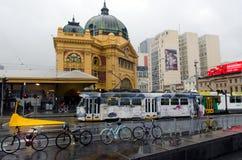 Rete della linea tranviaria di Melbourne Fotografie Stock Libere da Diritti