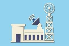 Rete della torre di telecomunicazioni Immagini Stock