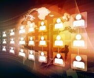 Rete di affari globali Fotografie Stock