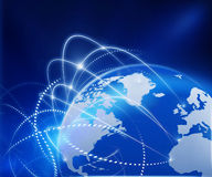 Rete di affari globali Immagini Stock Libere da Diritti